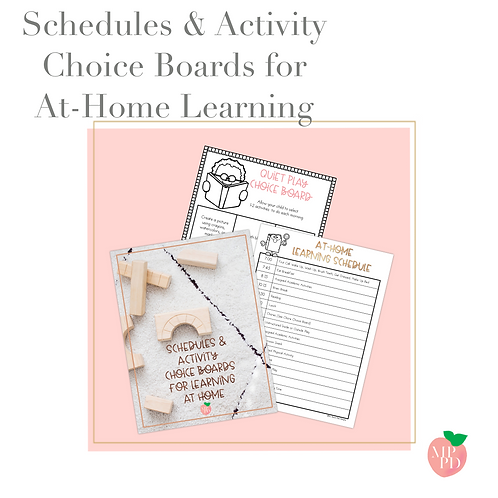 Schedules and Activity Choice Boards for Learning at Home