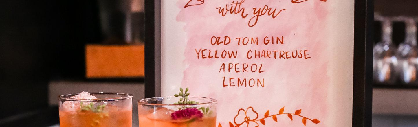 Custom Wedding Bar Menu - Ms. Peach Plus Designs
