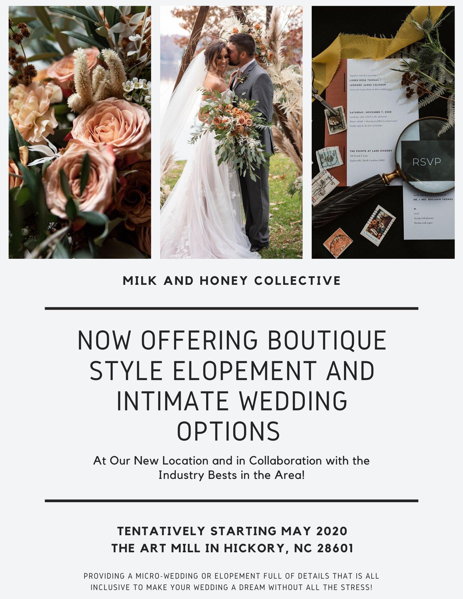 2020 Intimate Wedding Flyer 1 (image 1&3