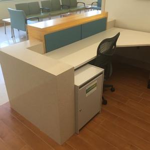 Stone & 3form Desk