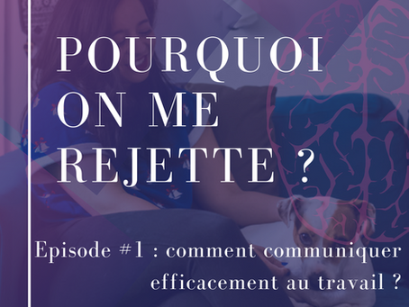 Pourquoi on me rejette? Episode #1 - Comment communiquer efficacement au travail ?