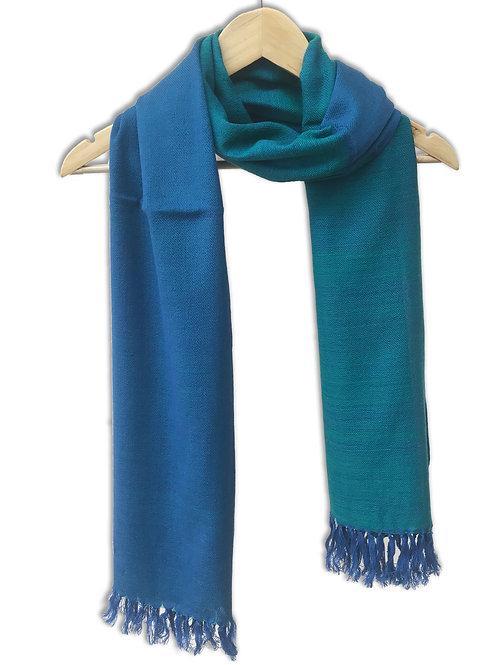 Handwoven Woollen Stole (Blue Mix)