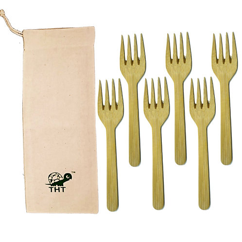 Reusable Bamboo Forks (Pack of 6)