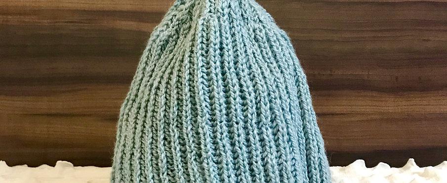Grey Classic Hand-knit Beanie