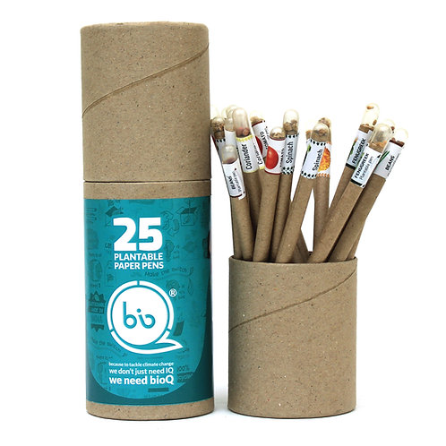 bioQ Box of 25 Plantable Seed Pens | Eco Friendly Box for Offices