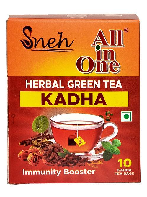 All in One Herbal Green Tea Kadha - 10 Tea Bags