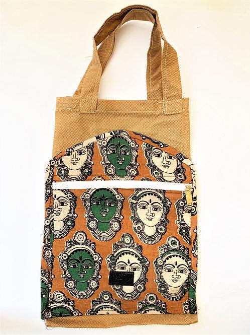 Folding Bag with Kalamkari