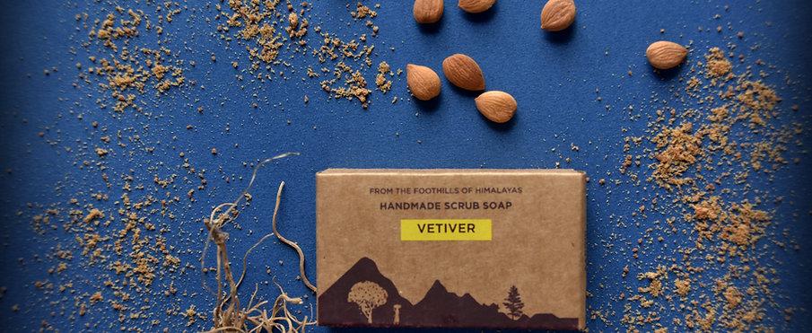 Vetiver Handmade Scrub Soap