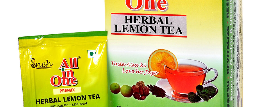 All In One Herbal Lemon Tea with Sulphurless Sugar - 25 Pouch