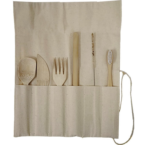 Ultimate Travel Kit with Bamboo Straw, Nylon brush