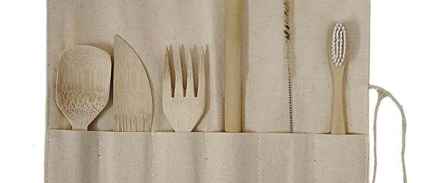 Ultimate Travel Kit with Bamboo Straw, Nylon brush