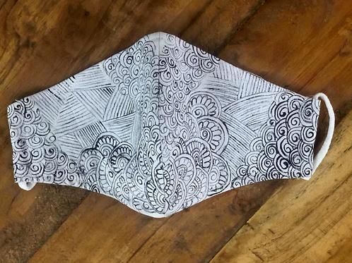 2 Layer Handpainted Cotton Masks (Classy)