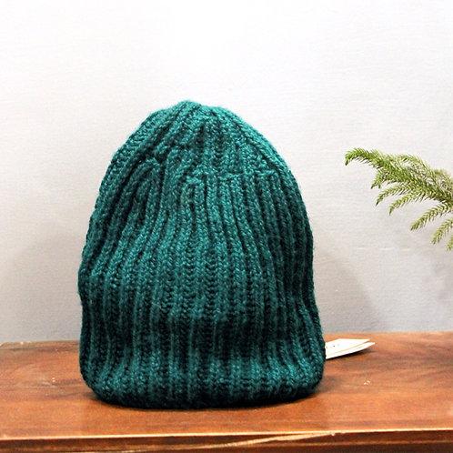 Sea Green Classic Hand-knit Beanie