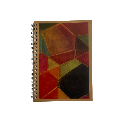Notebook With Geometric Cover Art