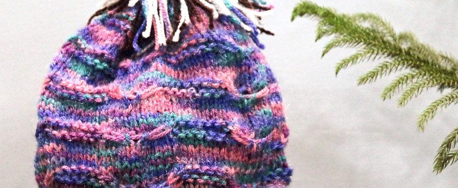 Mermaid Multi-Coloured Hand knit Beanie