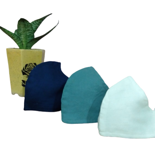 3-Layered Cotton Masks (Pack of 2)