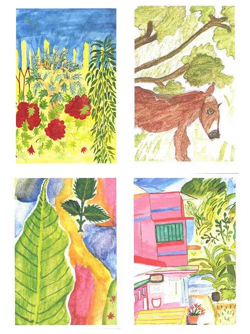 Nature Art Post Cards (Set of 4)