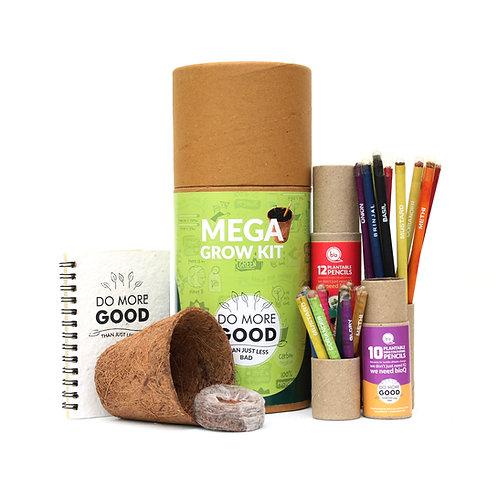 bioQ Mega Grow Kit   Coco Pot, Coco Peat, Plantable Mini Notepad & Stationery
