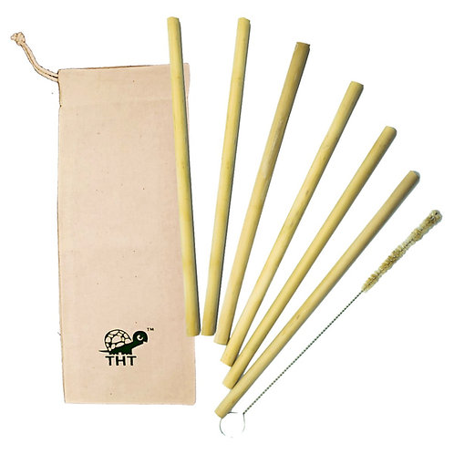 Bamboo Straws (Pack of 6)