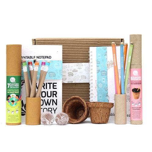 bioQ Mini Planting Stationery Combo | Eco Friendly Kit with 2 Mini Planting Sets