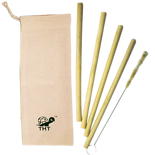Bamboo Straws (Pack of 4)