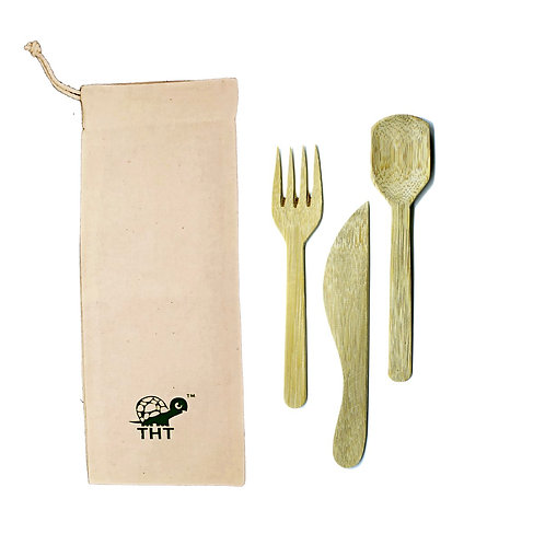 Green on the Go Bamboo Cutlery Set
