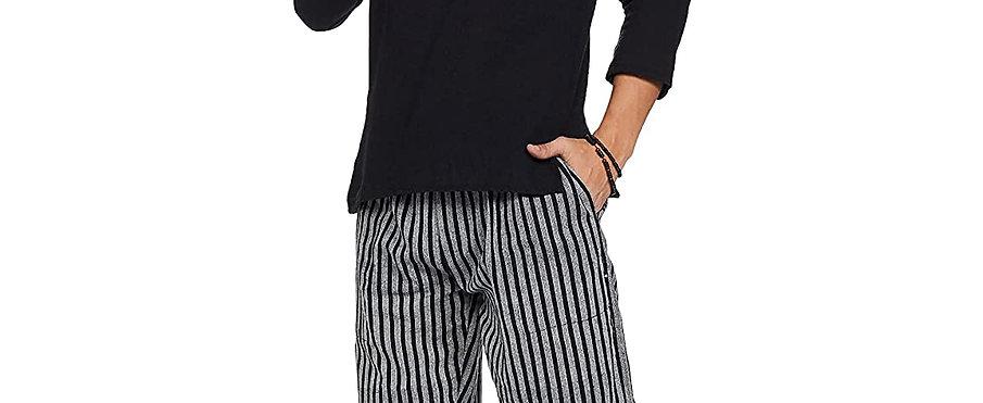 Freesize Unisex Pajamas (Black Stripes)