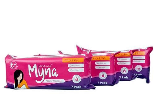 Myna Regular Pads (Pack of 28)