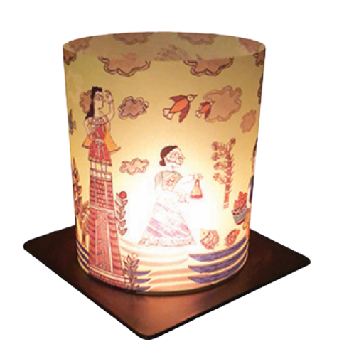 Madhubani Art Tea Light Holder