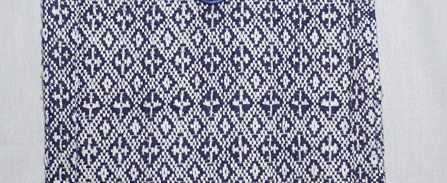 Handloom iPad Cover (Blue Crystals)