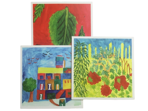 Nature Art Greeting Cards (Set of 3)