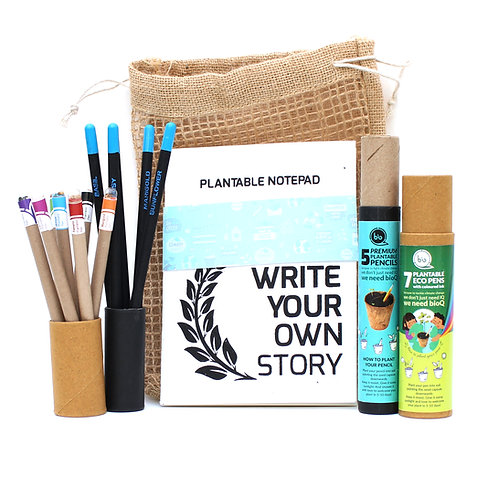 bioQ Plantable Stationery Combo of 5 Color Ink Seed Pen Box , 5 Premium Seed Pen