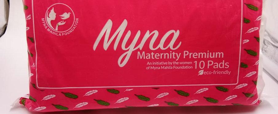 Myna Premium Maternity Pads (Pack of 10)