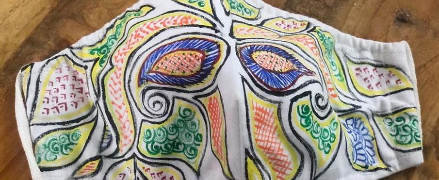 2 Layer Handpainted Cotton Masks (Designer)