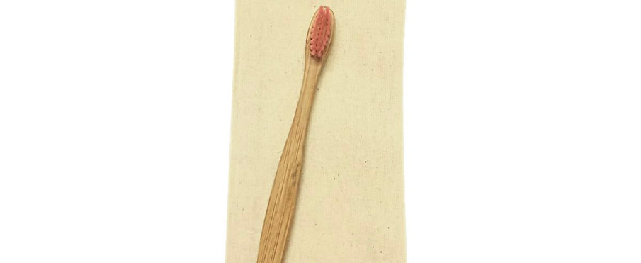 Bamboo Toothbrush Nylon Bristles - For Kids