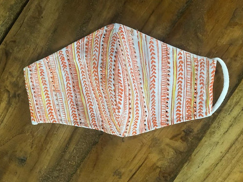 2 Layer Handpainted Cotton Masks (Patterned)