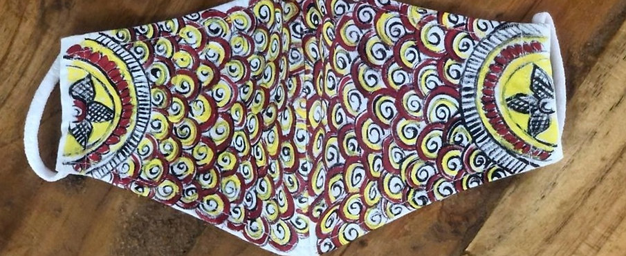 2 Layer Handpainted Cotton Masks (Spheres)