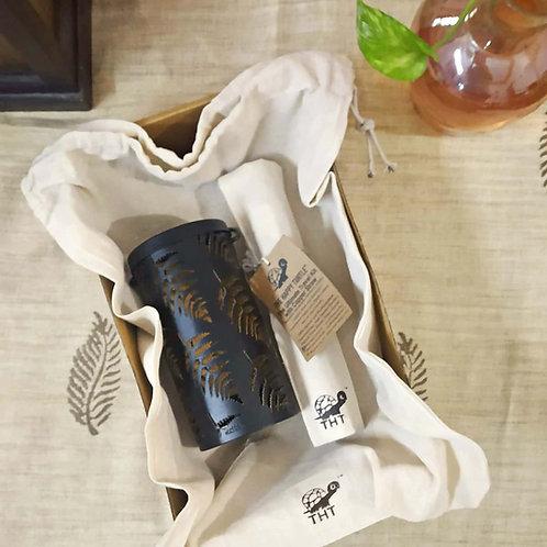 1 Lantern (Leaf/Mandala) + Ultimate Travel Kit (Bamboo Straw, Charcoal Brush)