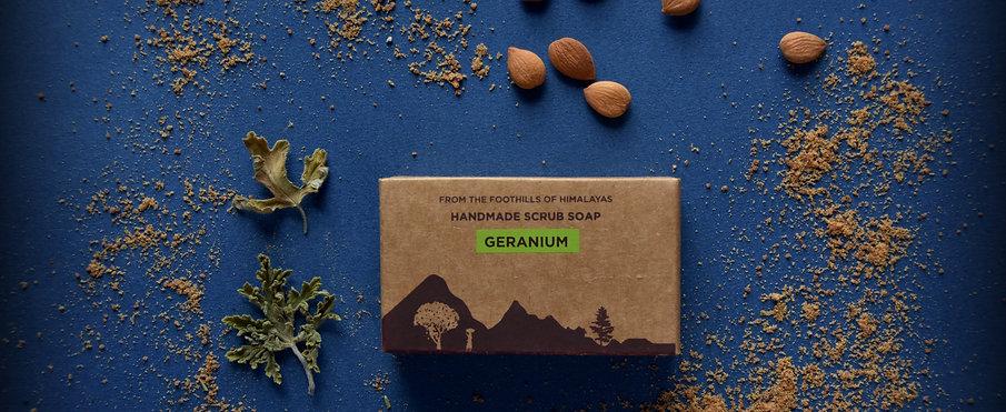 Geranium Handmade Scrub Soap