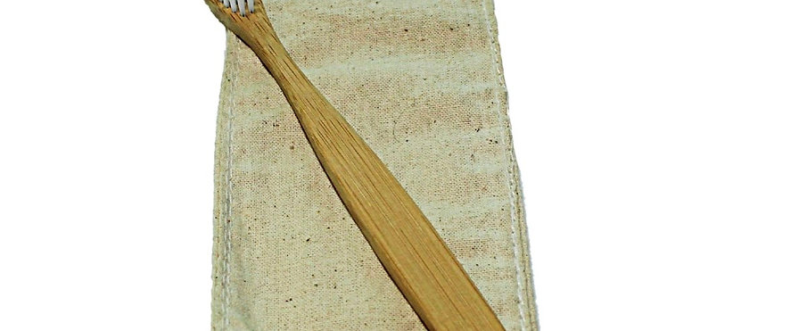 Bamboo Toothbrush Nylon Bristles