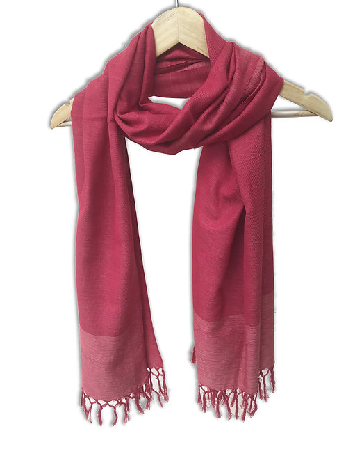 Handwoven Cotton Stole (Classy Red)