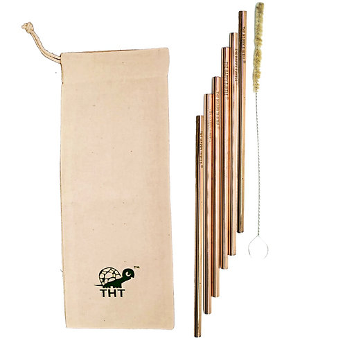 Reusable Copper Straws (Pack of 6)