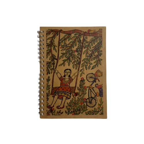 Notebook With Madhubani Cover Art