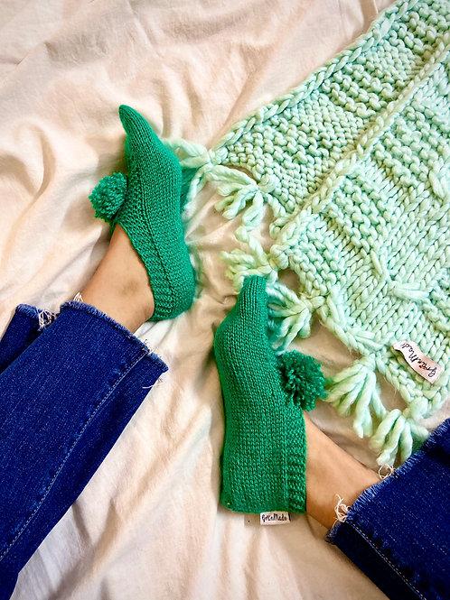 Green Hand Knit Socks