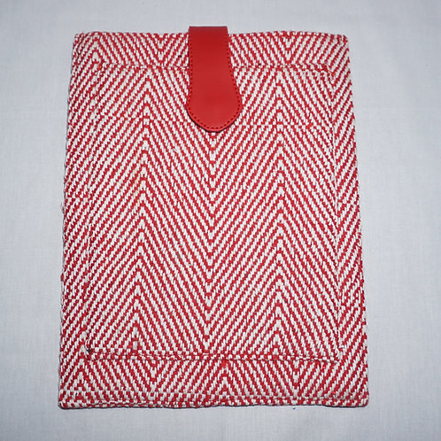 Handloom iPad Cover (Red Zig Zag)