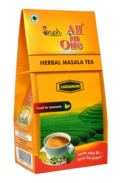 All In One Herbal Masala Tea Cardamom - 250 Gm