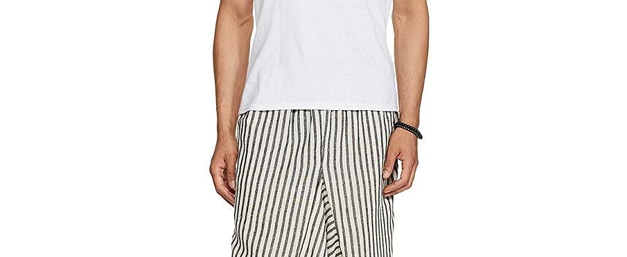 Harem Pants (White Stripes)