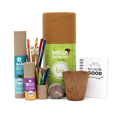 bioQ Eco Friendly Plantable Stationery | Mega Grow Kit