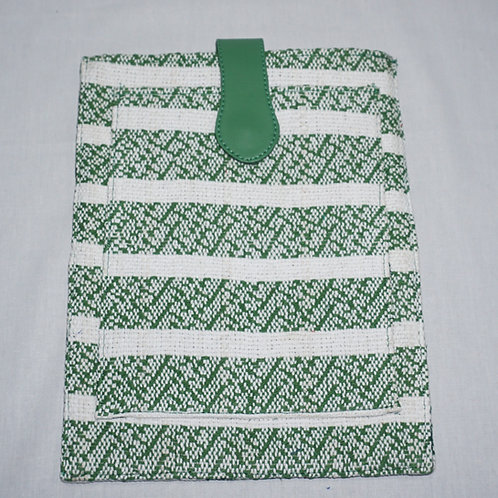 Handloom iPad Cover (Green Stripes)