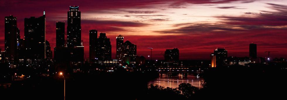 Austin skyline early morning.